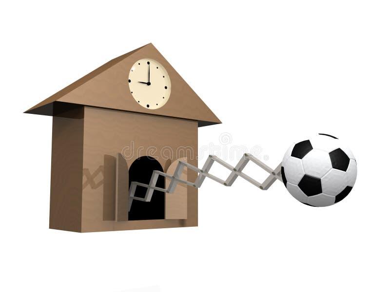 время игры футбола к иллюстрация штока