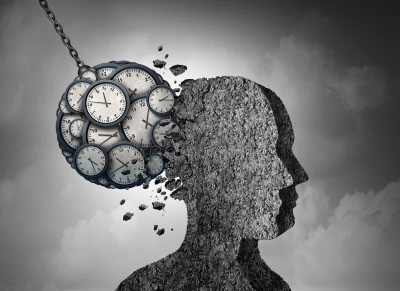 Время и стресс иллюстрация вектора
