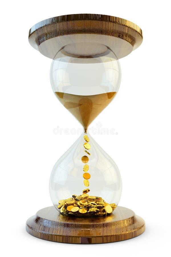 Время концепция денег иллюстрация штока