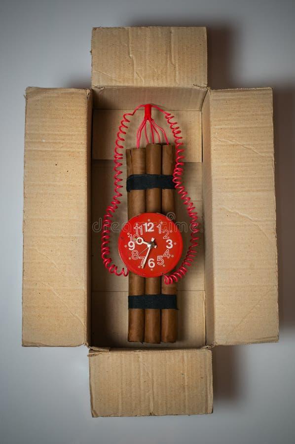 время коробки бомбы стоковое изображение