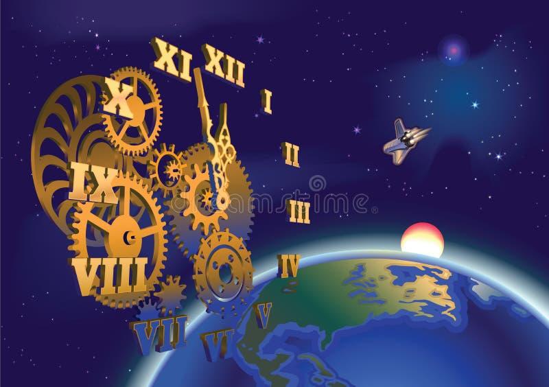Время космоса стоковое фото