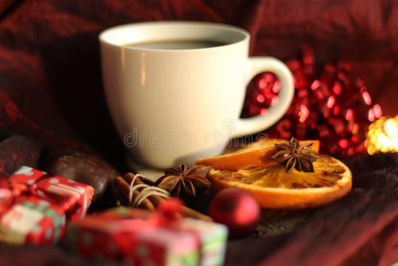 Время кофе рождества стоковые изображения