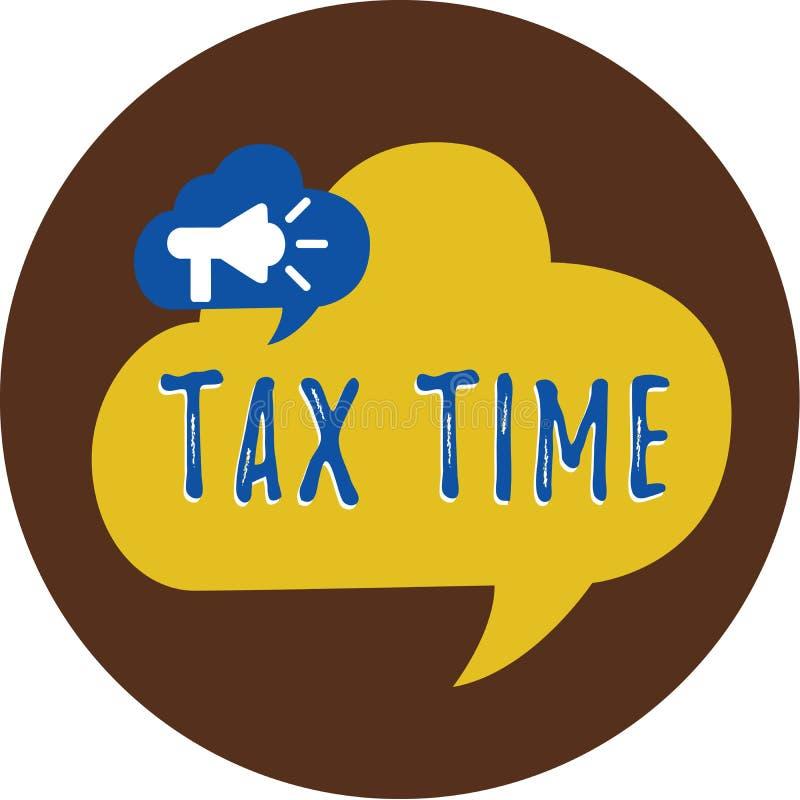 Время налога сочинительства текста почерка Концепция знача принудительный доход положения вклада собира налоги правительство на р иллюстрация штока