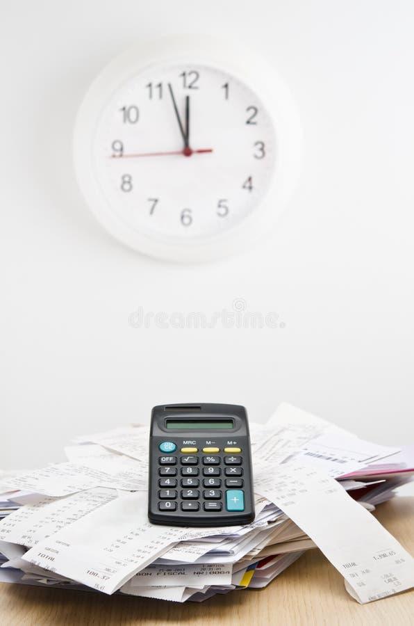 Время налога стоковое изображение rf