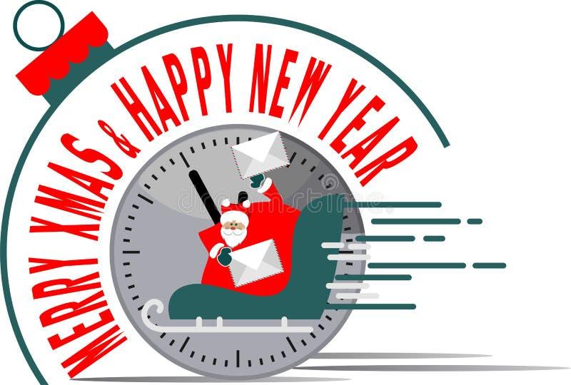 Время Нового Года Санта Клауса бесплатная иллюстрация