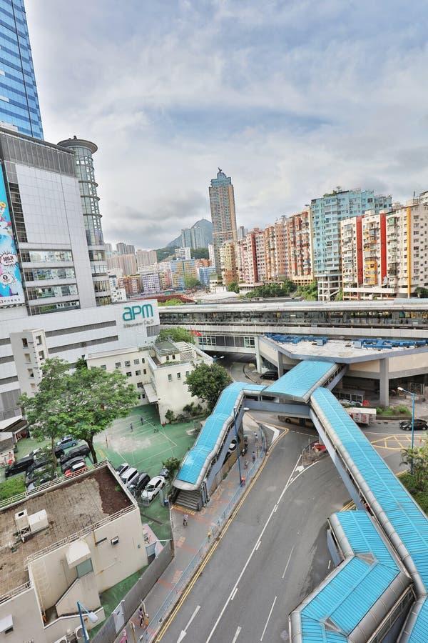 Время дня центра города схвата kwun Гонконга стоковое изображение