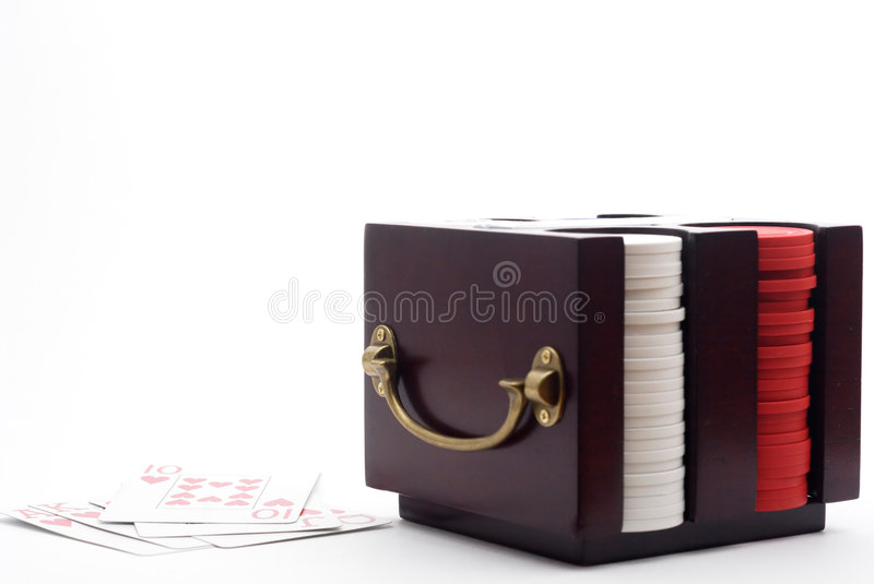 время покера обломоков карточек стоковые изображения