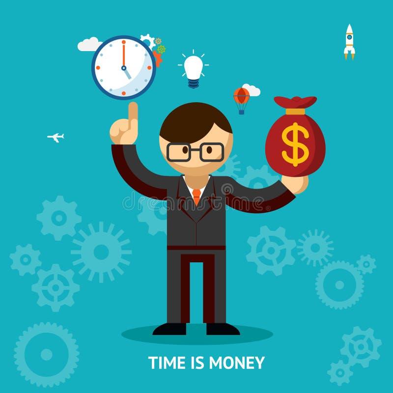 Время принципиальная схема дела денег бесплатная иллюстрация
