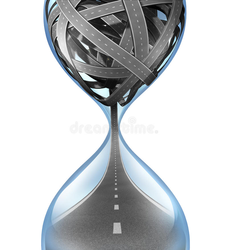 Время прохождения иллюстрация вектора