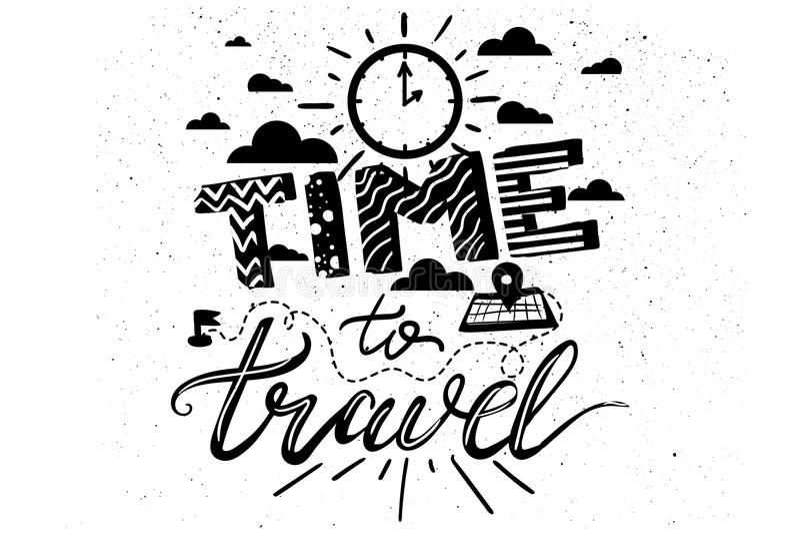 Время путешествовать литерность бесплатная иллюстрация