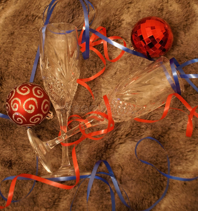 время рождественской вечеринки стоковое изображение