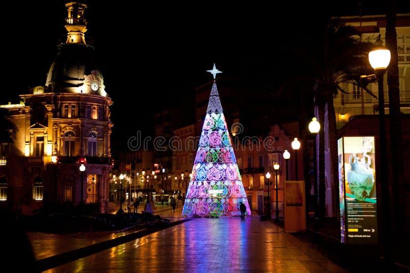Время рождества в Cartagena, Spaine стоковая фотография rf