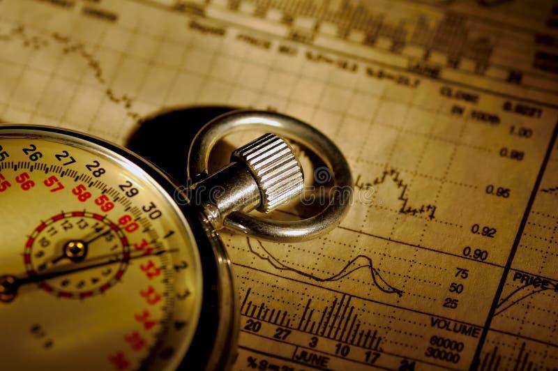 время рынка стоковое изображение rf