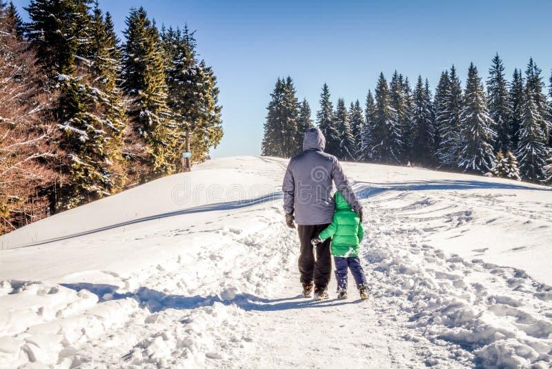 Время семьи в зиме стоковое фото