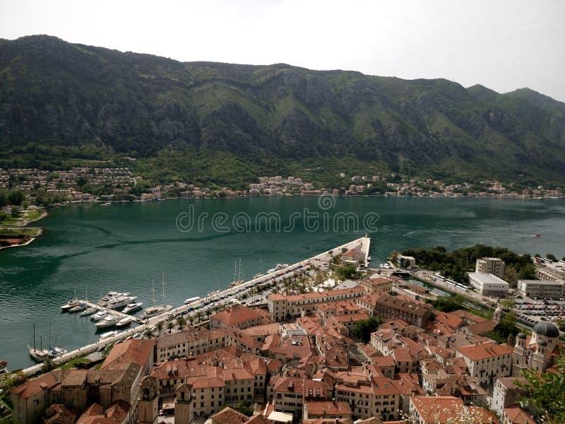 время утра montenegro kotor залива стоковое изображение rf