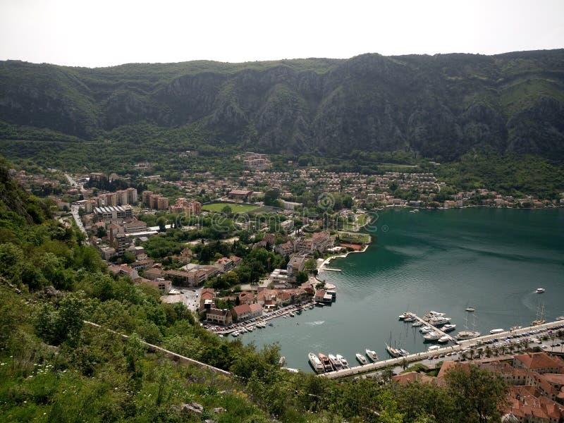 время утра montenegro kotor залива стоковые фотографии rf