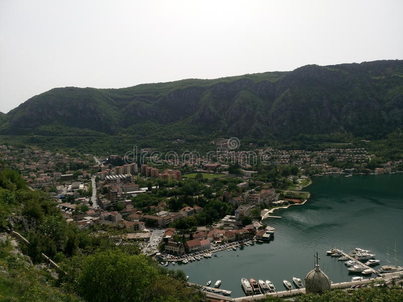 время утра montenegro kotor залива стоковое фото rf