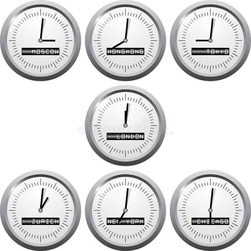 Время фондовой биржи в центрах financional бесплатная иллюстрация