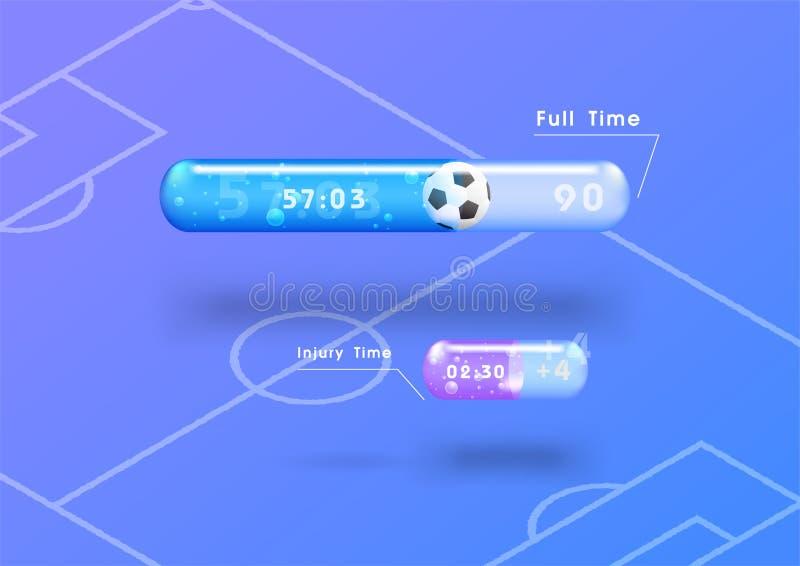 Время футбола иллюстрация вектора
