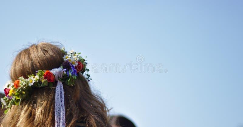 Время цветка Hippie стоковая фотография rf