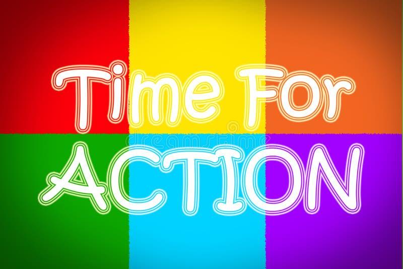 Время для принципиальной схемы действия стоковое изображение rf