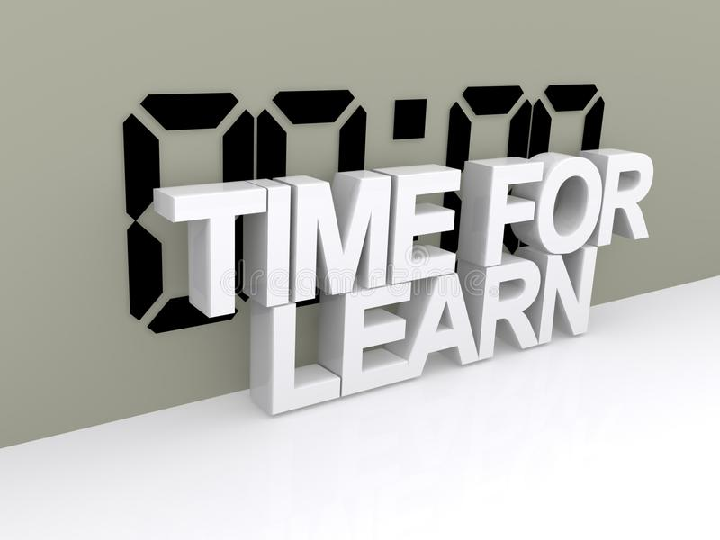 Время для учит знак иллюстрация вектора
