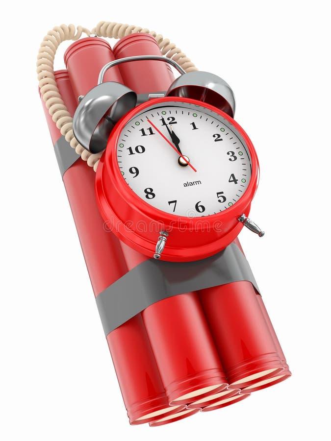 время dynamit детонатора часов бомбы сигнала тревоги 3d бесплатная иллюстрация