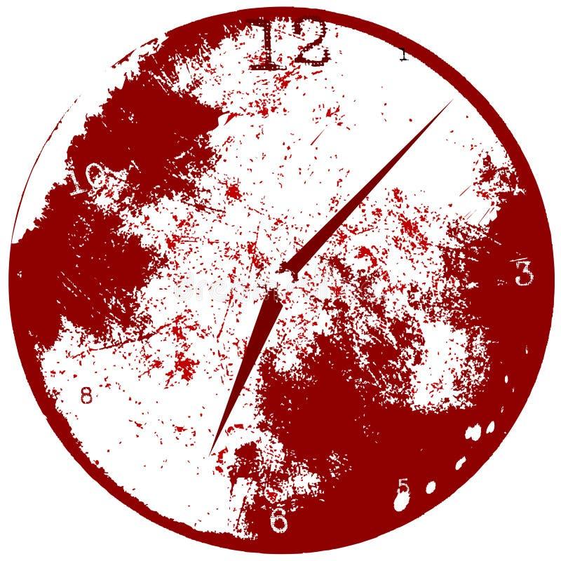 время grunge часов предпосылки иллюстрация вектора