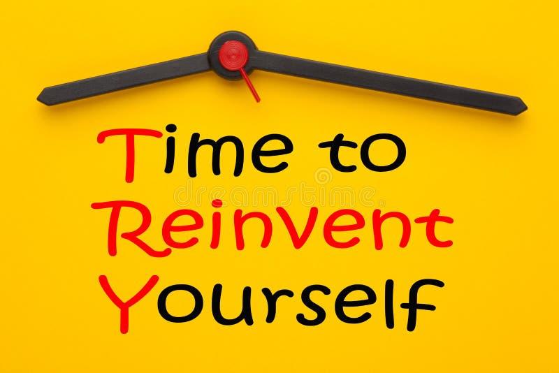Время Reinvent стоковое изображение rf
