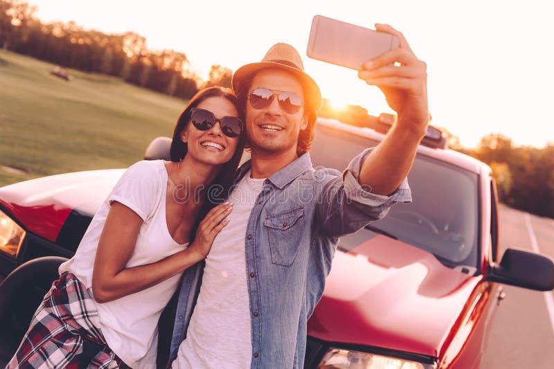 Время Selfie! стоковое изображение