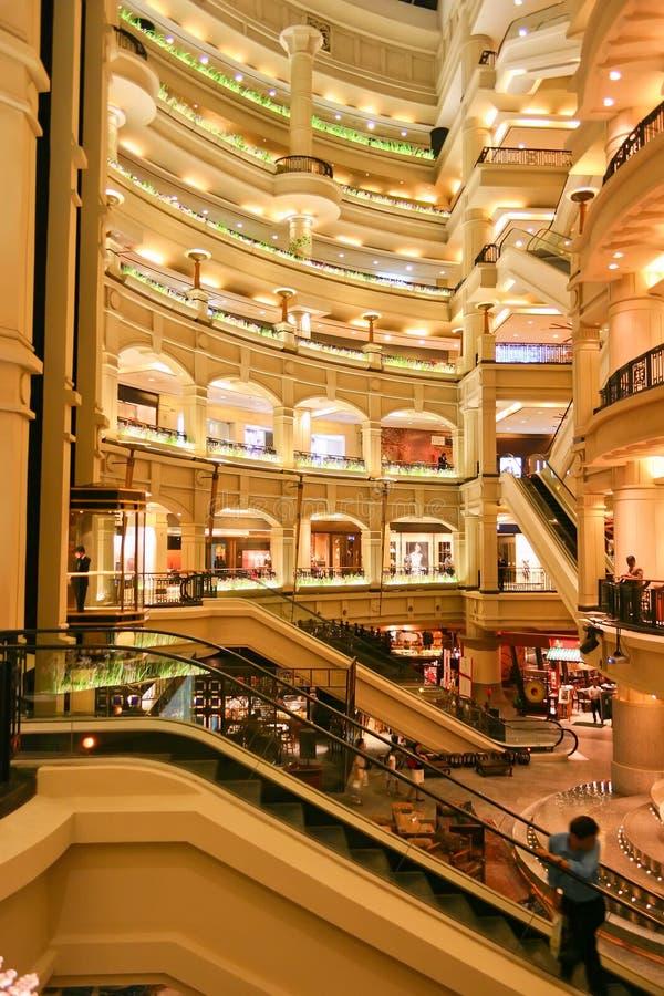 время sqare покупкы мола Малайзии стоковое изображение