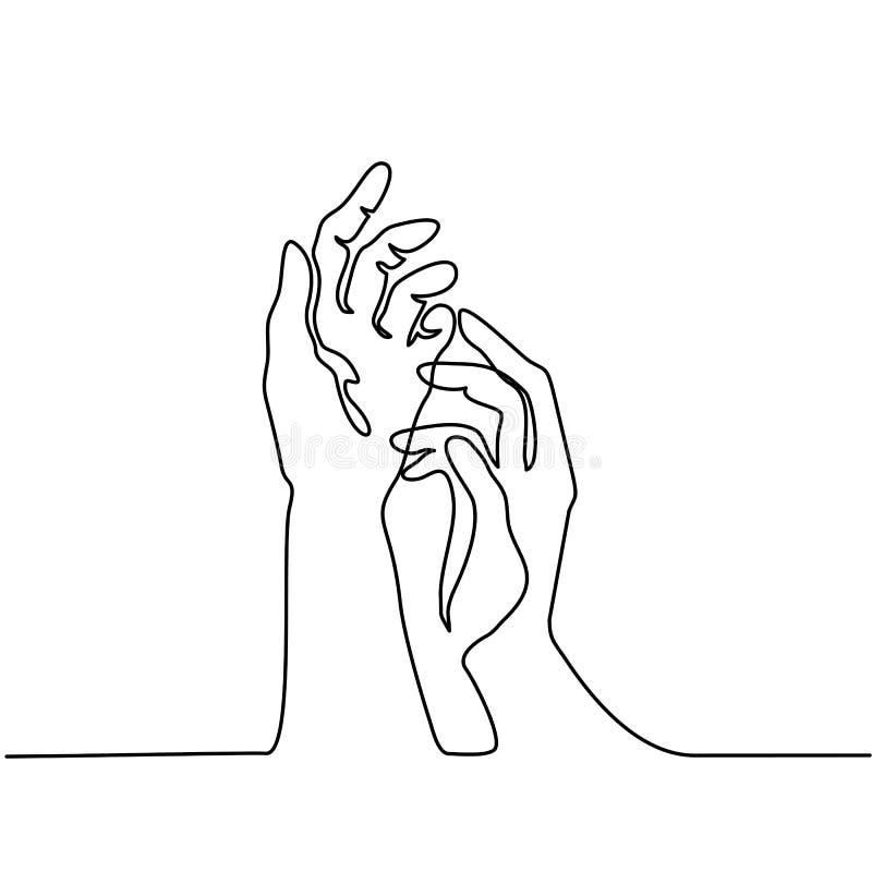 Вручает ладони совместно иллюстрация вектора