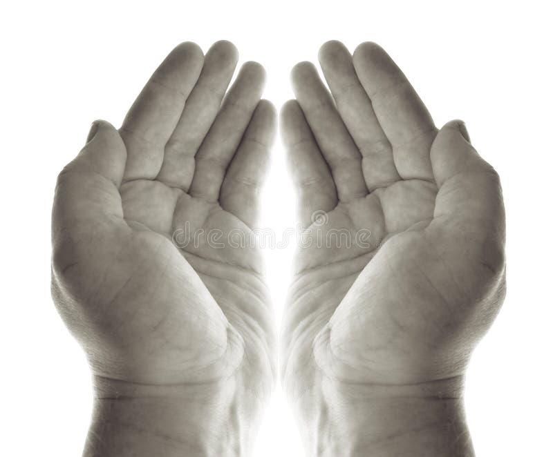 вручает молитву стоковая фотография