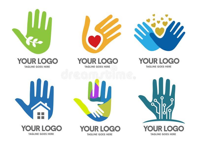 вручает логос иллюстрация вектора