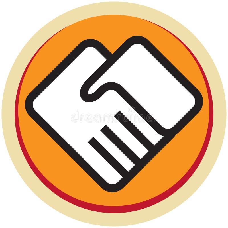 Вручает логотип иллюстрация вектора