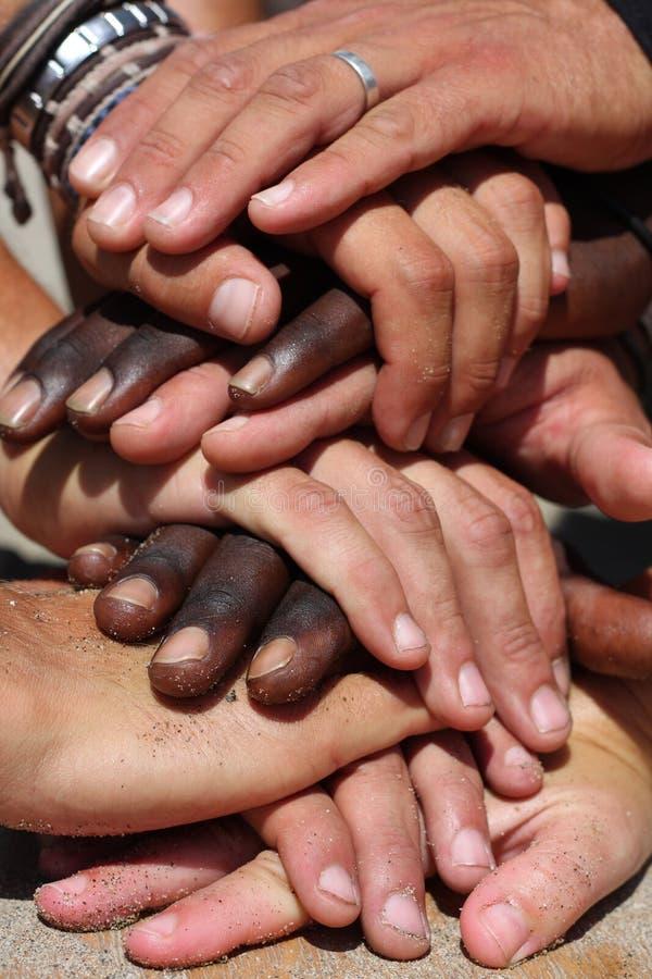 вручает расовое стоковые фотографии rf