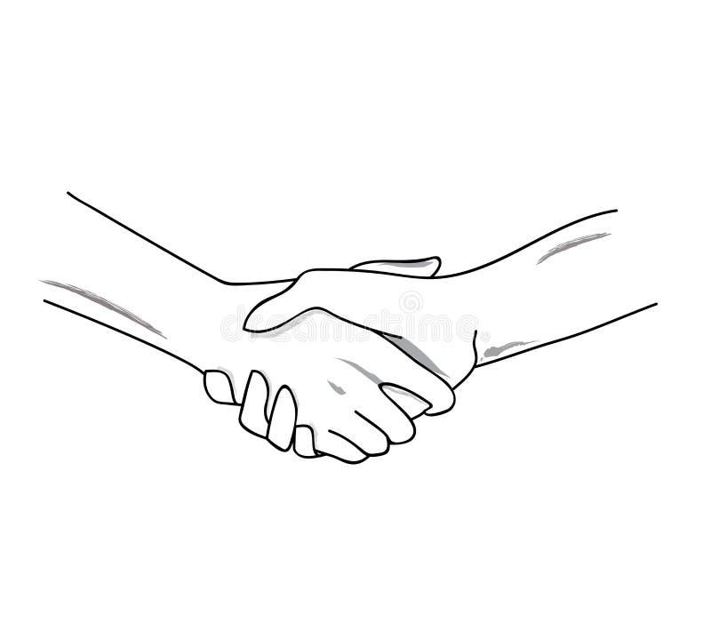 вручает handshaking готовый вектор иллюстрация штока