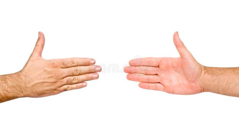 вручает handshaking готовый стоковые фото