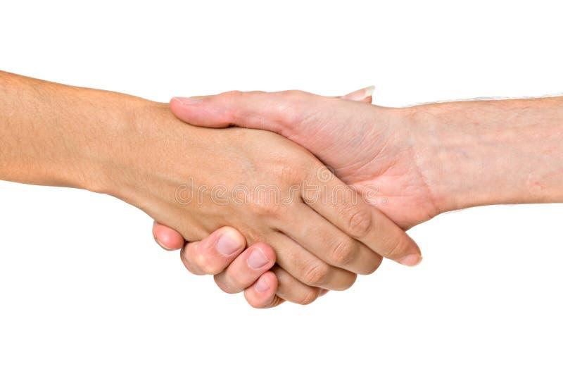 вручает handshaking готовый стоковое фото