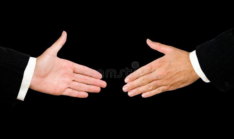 вручает handshaking готовый стоковая фотография rf