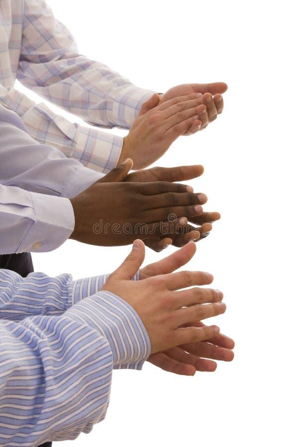 вручает multiracial стоковые фото