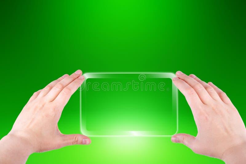вручает smartphone стоковое изображение rf