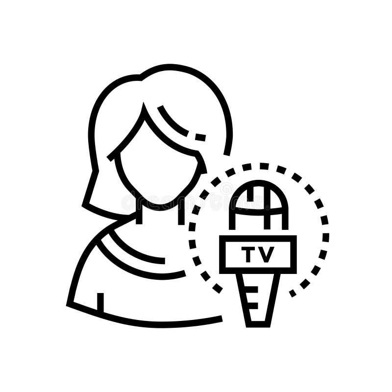 Вручитель ТВ - выровняйте значок дизайна одиночный изолированный бесплатная иллюстрация