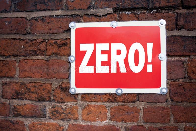 Вручите воодушевленность титра текста сочинительства показывая zero концепцию знача zero допуск Nought нулей написанный на старой стоковые фото