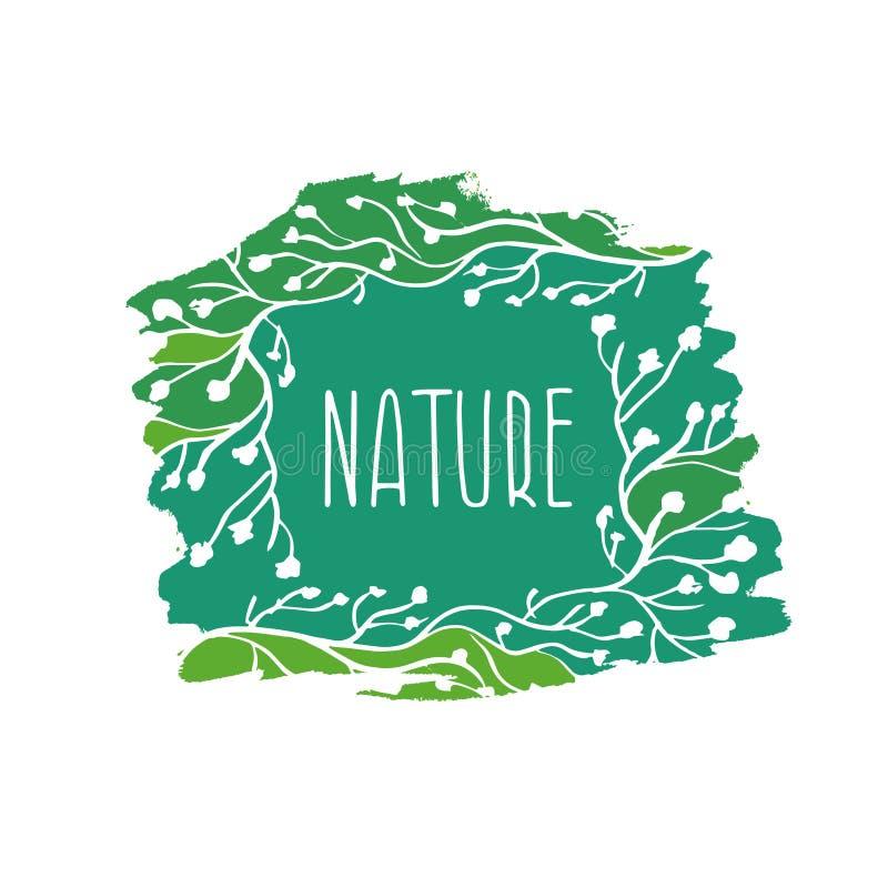 Вручите вычерченное винтажное дерево с ветвями и листьями иллюстрация штока