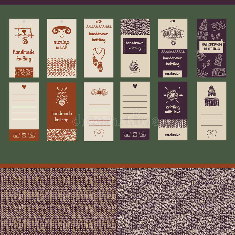 Вручите вычерченной иллюстрации вектора винтажную визитную карточку литерности бесплатная иллюстрация