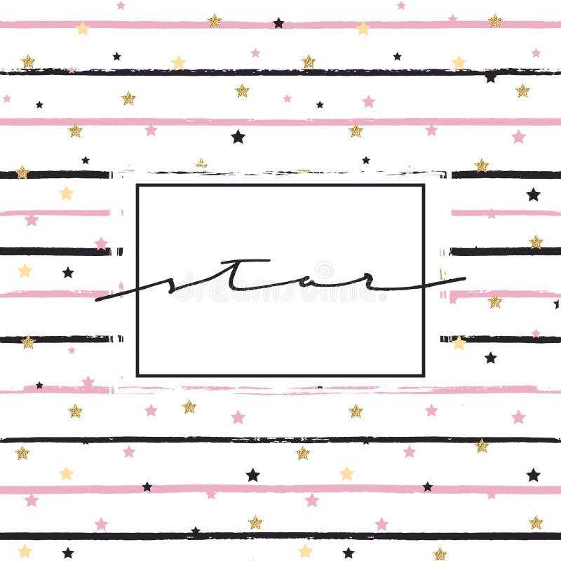 Вручите вычерченному grunge lineal картину и вручите вычерченный текст бесплатная иллюстрация