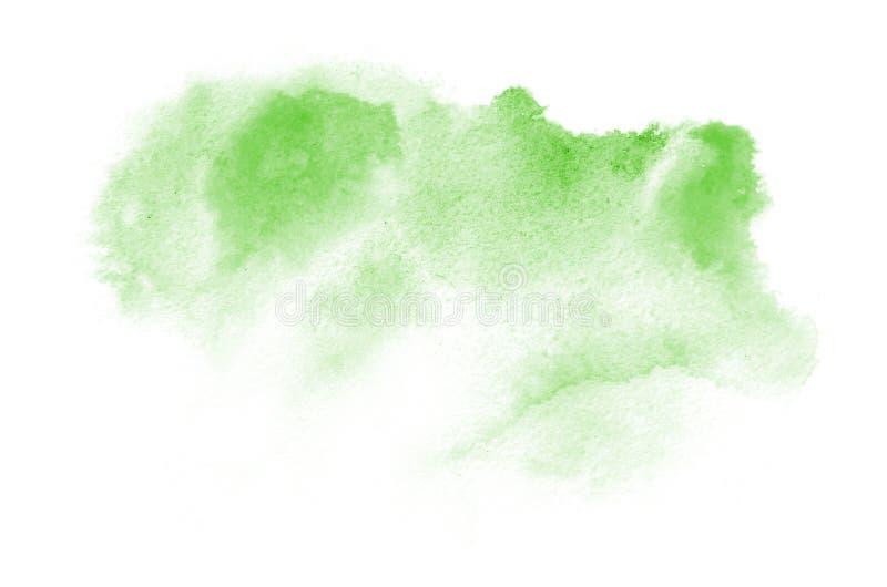 Вручите вычерченную зеленую форму акварели для вашего дизайна Творческая покрашенная предпосылка, ручной работы украшение стоковые изображения