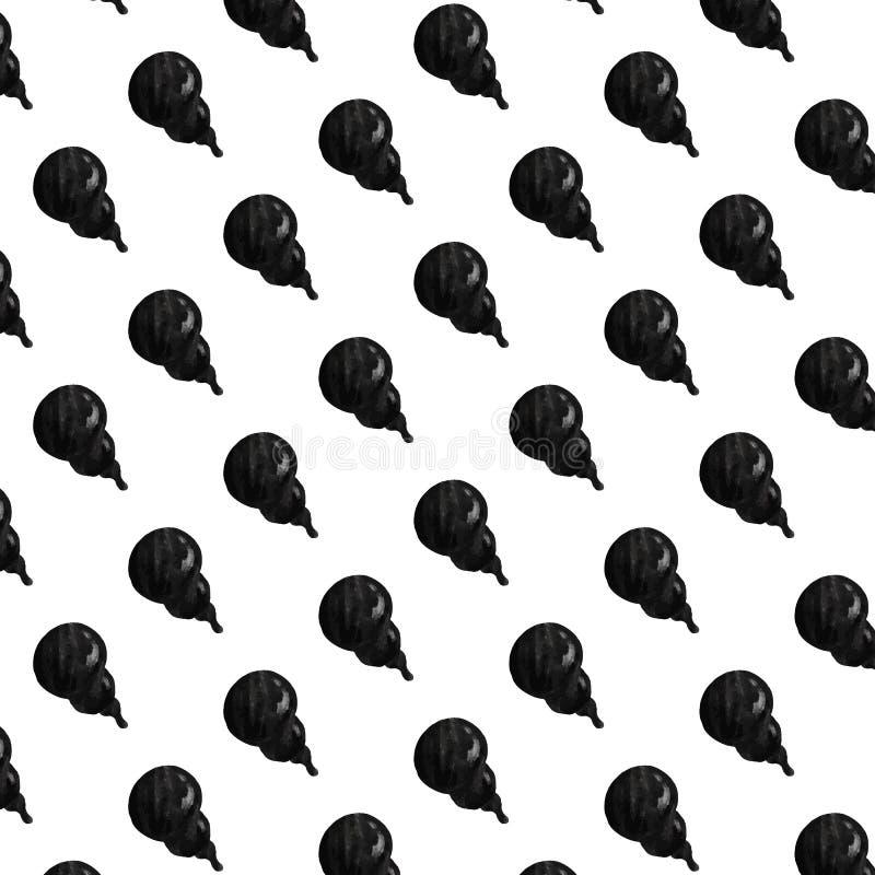 Вручите вычерченную иллюстрацию вектора картины дыма черноты шаржа стоковое изображение