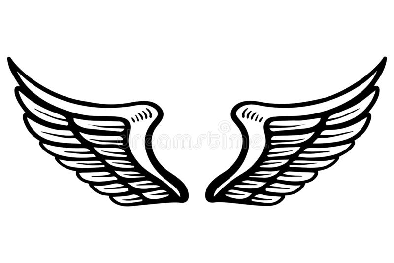 Вручите вычерченную иллюстрацию крылов орла изолированную на белой предпосылке Конструируйте элемент для плаката, карточки, знаме иллюстрация штока